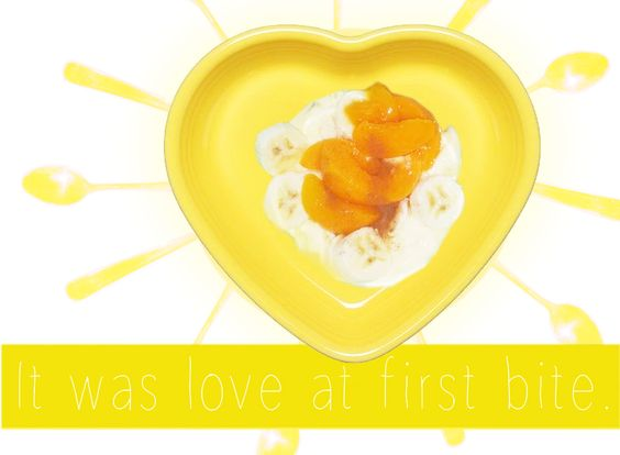 Yummy breakfast- Yoghurt, Peach, Banana's - Favourite combination