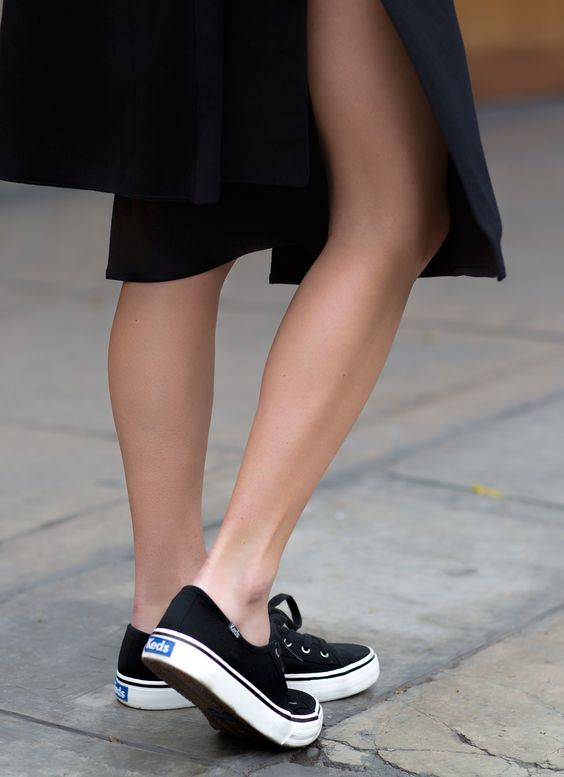 keds double up sneakers black