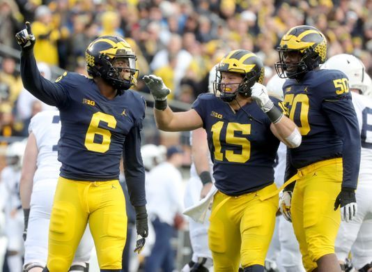 Michigan Football Penn State So Scared Of Our Defensive Line Michigan Football Football University Of Michigan Wolverines