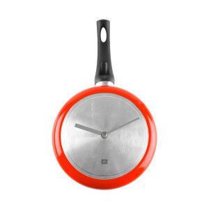 Reloj Cooking Time rojo y plateado  Diámetro: 18 cm