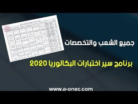 برنامج سير اختبارات بكالوريا دورة 2020 Bac Periodic Table Diagram