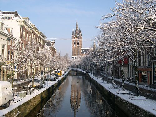 The only place I'd choose to live besides Oregon...Delft, The Netherlands.