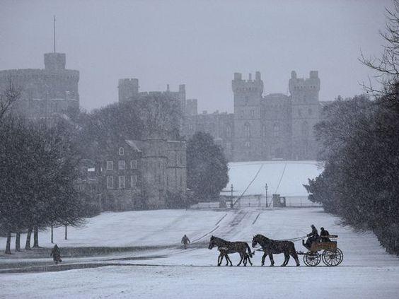 Windsor Castle in Snow