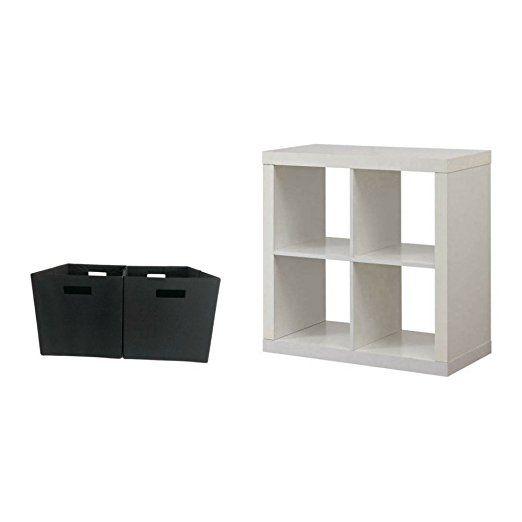 Amazon Com Better Homes And Gardens Bookshelf Square Storage Cabinet 4 Cube Organizer Rustic Gray With 2 Pc Wir Storage Cabinet Storage Bookshelves