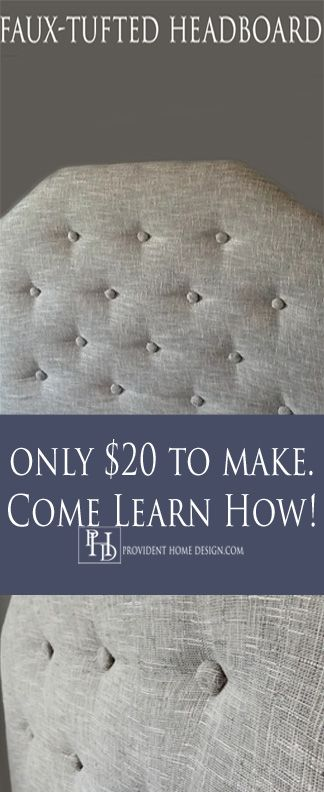 Diy faux tufted upholstered headboard a well diy for Easy to make headboards