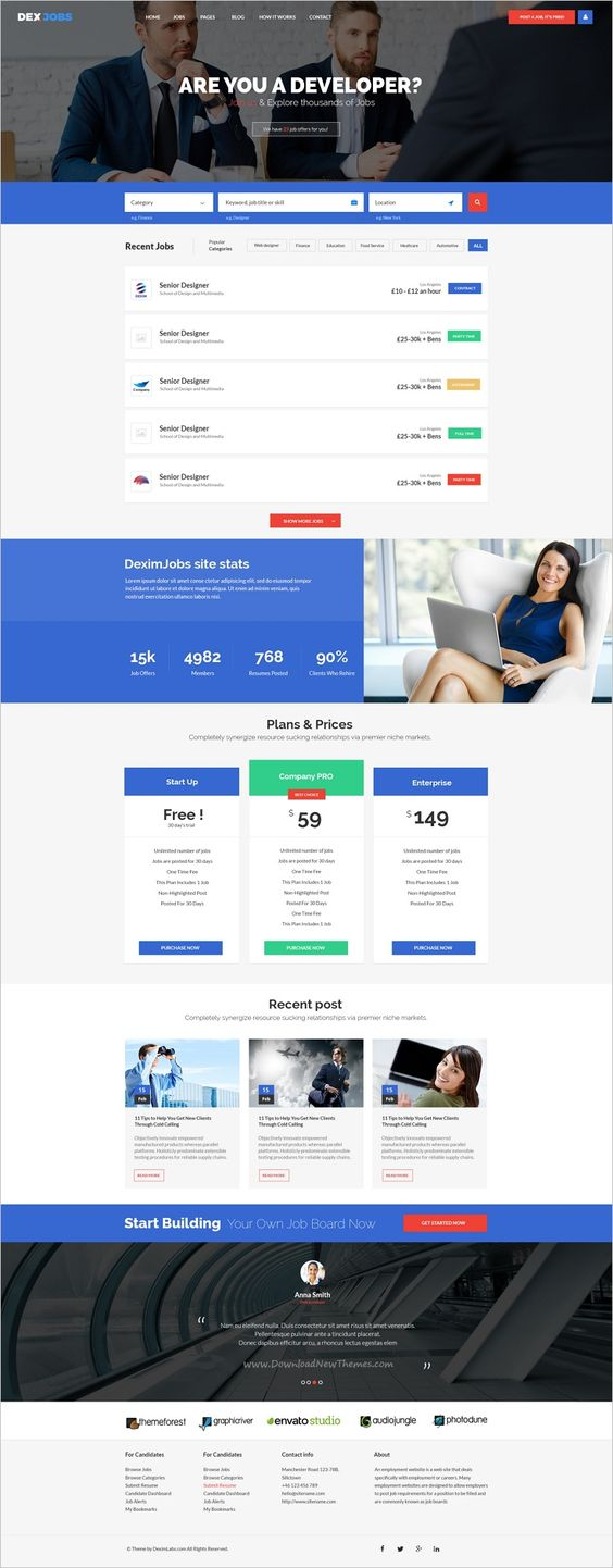the world s catalog of ideas dexjobs is beautifully design psd template for webdev perfect job board websites