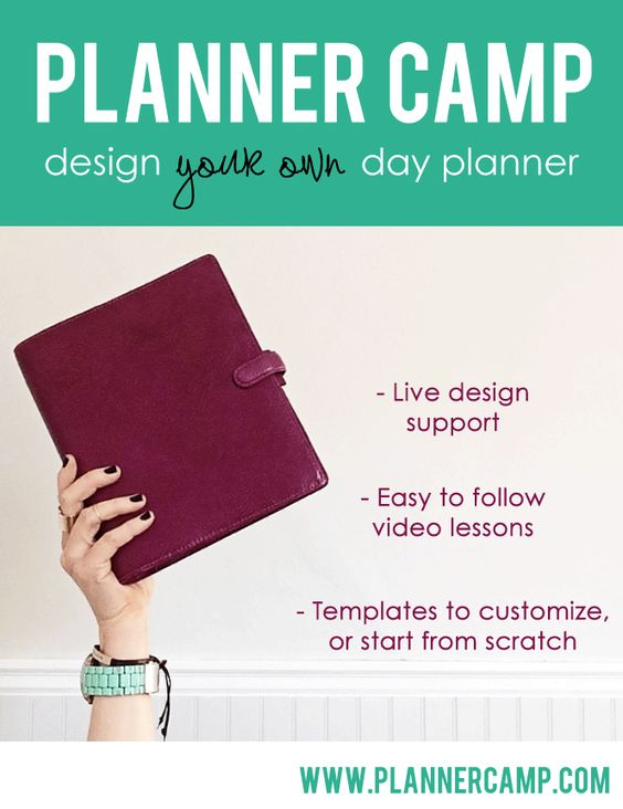 Planner camp design your own day planner with live for Design my own planner