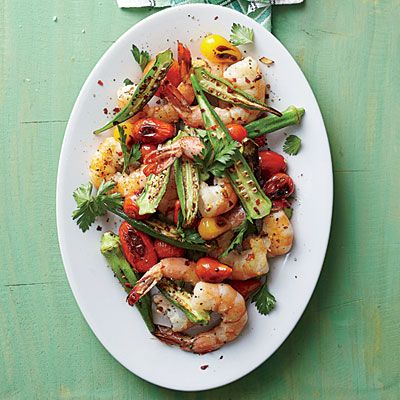 Skillet-Roasted Okra and Shrimp - 5-Ingredient Side Dish Recipes ...