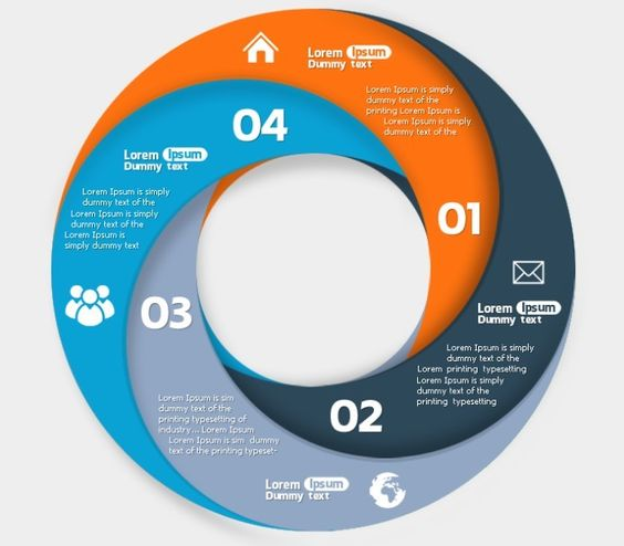 Circle Infographic Data Options PSD | Ideas typo | Pinterest ...