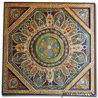 Tangier brown ceiling