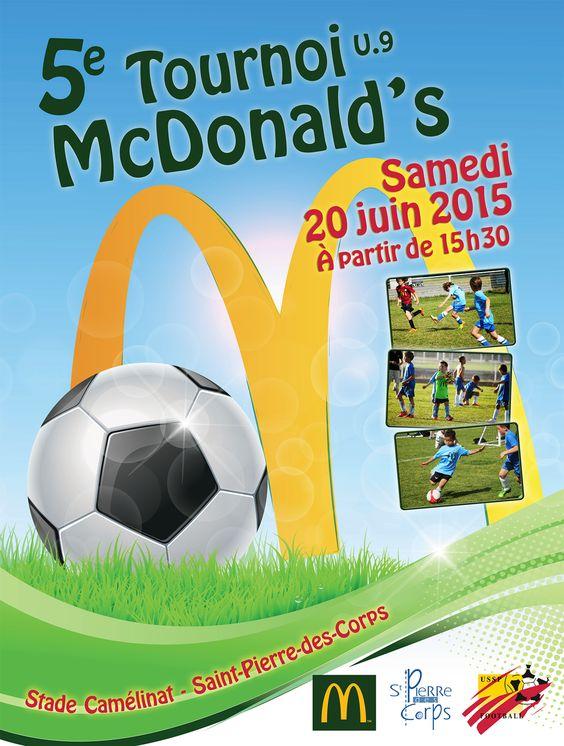 Affichette Association de Rugby (pour enfant) - partenariat Mc Do - juin 2015