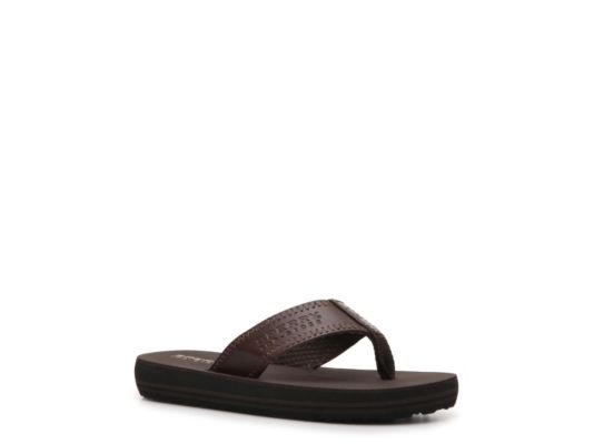 Men's Sperry Top-Sider Goby Boys Youth Flip Flop - Brown