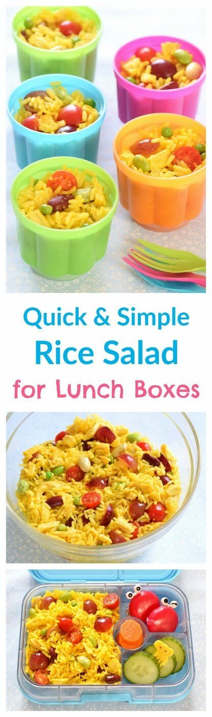 Quick and easy rice salad pots - a great alternative to sandwiches for packed lunches - allergy friendly - gluten free nut free and dairy free