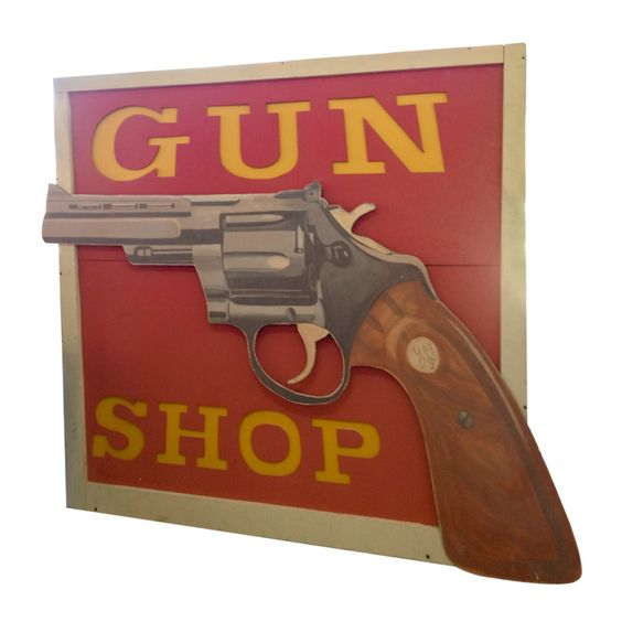 Shop lights, Guns and Signs