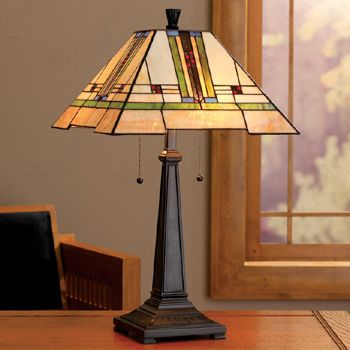 Frank Lloyd Wright Arts Crafts Table Lamp