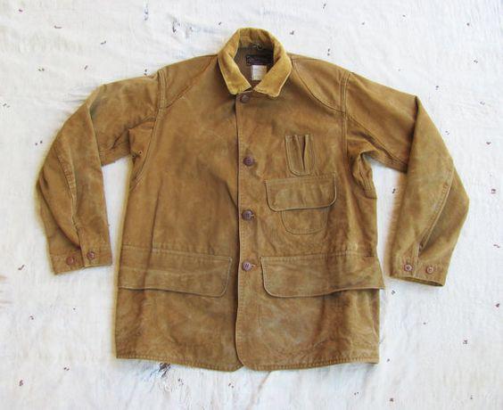 Vintage C 1920s 30s Rare Drybak Reversible Hunting Jacket