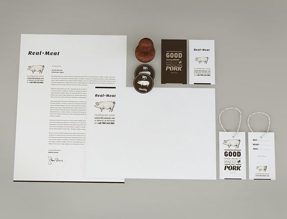 Real meat on Behance
