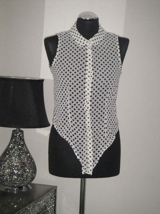 Gorgeous Black/White Polka Shirt. By Glamorous $14.00