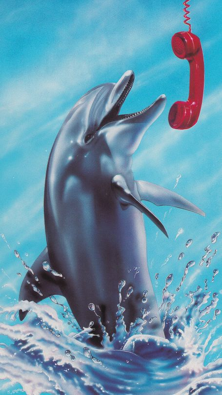 Chris Dellorco '91 #90s #80s #art #retro #airbrush#dolphin