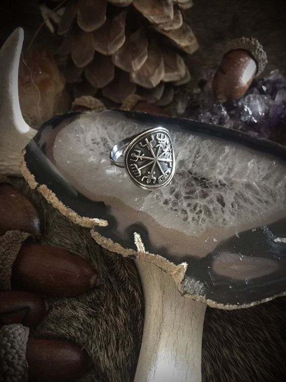 Vegvisir Ring Viking Ring Wiccan Jewelry por TheWickedGriffin