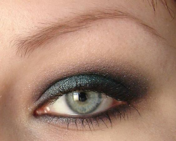 My first Makeup Tutorial ever from March 2007 - with MAC Pigments 'Deep Blue Green' & 'Teal' http://www.magi-mania.de/margie-lol/