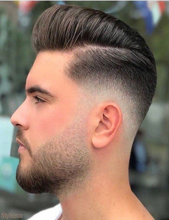 Lovely Short Side Long Top Hairstyle For Mens Barber Barbershop Scissors Blade Haircut Beard Hairdre Mens Hairstyles Short Top Hairstyles Mens Hairstyles