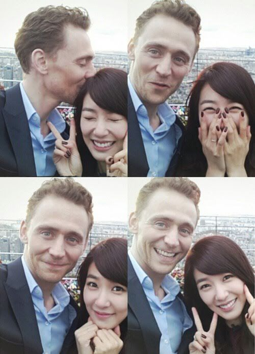25 Selfies You Never Knew K Pop Idols Took With Western Celebrities Girls Generation Tom Hiddleston Generation Pictures