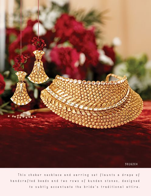 Rivaah Gold Jewellery Collection Online Tanishq Tanishq Jewellery Antique Gold Jewelry Gold Jewelry