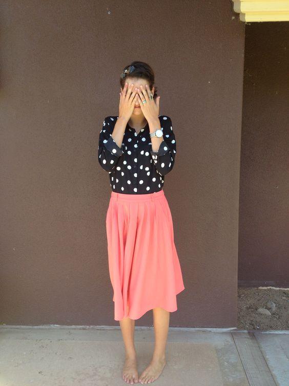 Cute, cute.-- i already have a skirt like this!