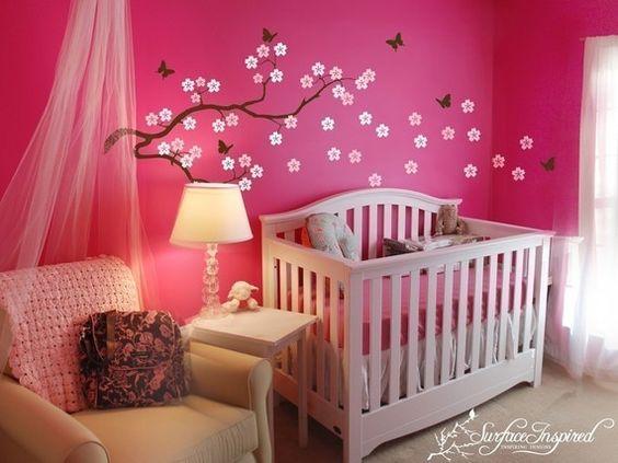 dcoration pour une chambre de bb - Couleur Chambre Bebe Fille