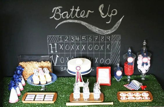 baseball décor chalkboard scoreboard of each year of school with 12th (year) inning with a homerun