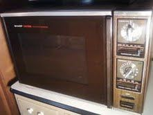 Old Sharp Microwave Oven Childhood Nostalgia From The