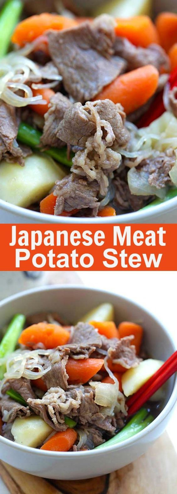 Meat and Potato Stew (Nikujaga) – hearty stew with meat and potatoes ...