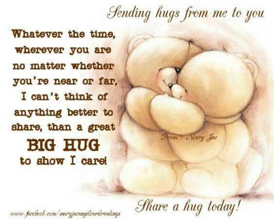 valentines day quotes 4 mom teddybear - Sending hugs from me to you Quotes