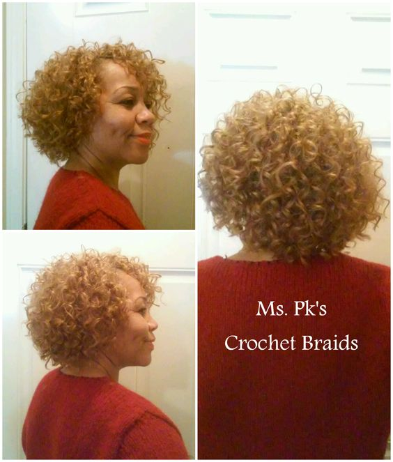 Crochet braids, Blonde dye and Water waves on Pinterest