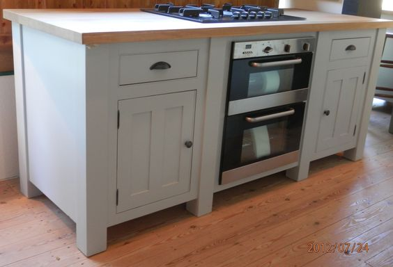 English Hob Kitchen ~ This freestanding base unit has an electric oven and hob