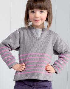Modèle tunique fille bicolore