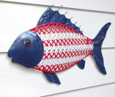 Nautical Red, White and Blue Decorations with a Patriotic Flair