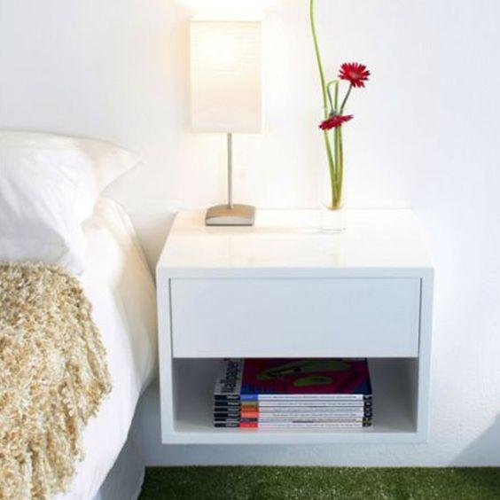 Wall Mounted Nightstand Diy: Floating Bedside Table
