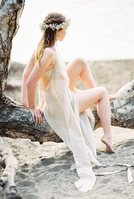 Tamara II | White Pick High Fashion Boho Bridal Beach Boudoir | Fine Art Film Lingerie Photographer Fotografin | Berlin, Germany, Europe Jeanie Micheel