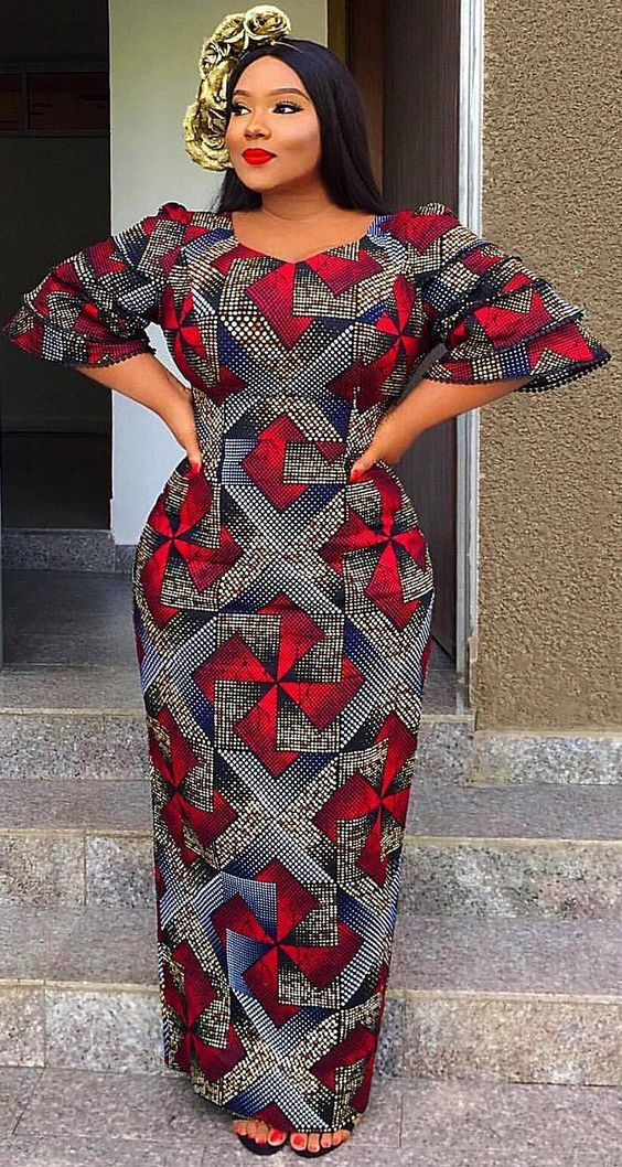 Beautiful Plus Size African Ankara Styles And Attire African Print Long Dress African Dresses For Women African Clothing Styles