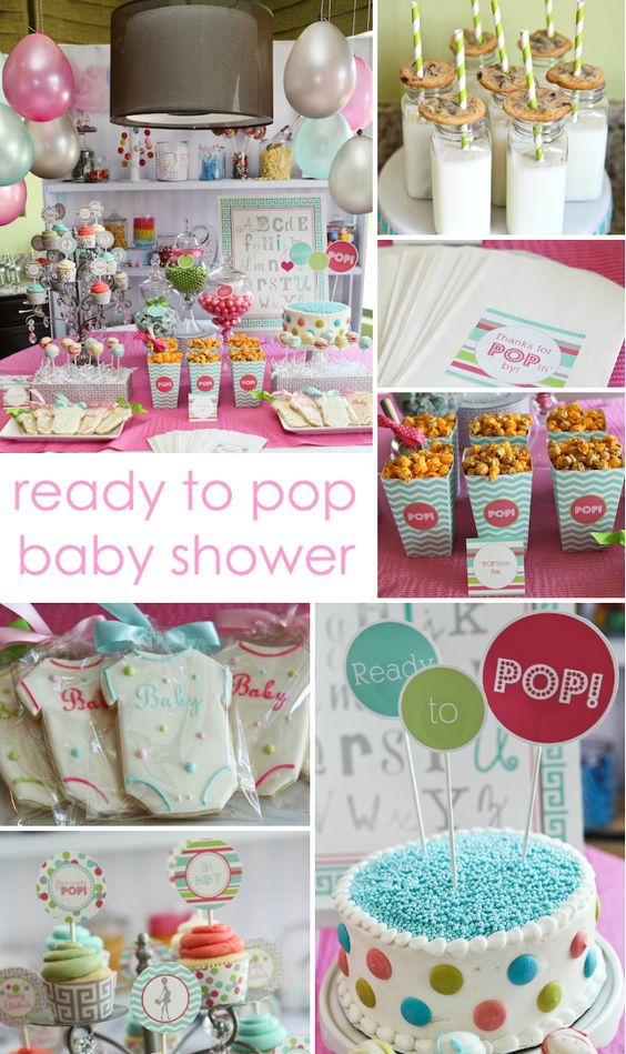 party reveal ready to pop baby shower pop baby showers cakes and