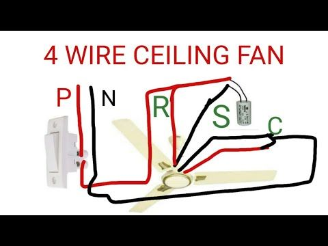 Ceiling Fan Connection Of Four Wire Youtube Ceiling Fan Celing Fan Fan