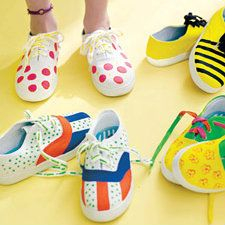 DIY painted sneakers tutorial via @Etsy