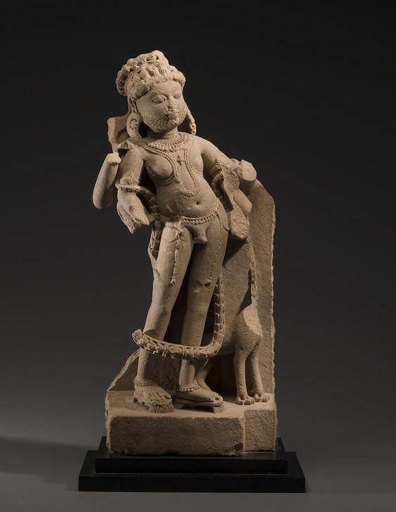 A buff sandstone figure of Shiva Bhikshatana Madhya Pradesh or Rajasthan, circa 10th century