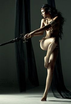 .woman with sword