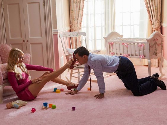 The Wolf Of Wall Street. Actors Margot Robbie(Naomi/Nadine) and Leonardo DiCaprio (Jordan). businessinsider.com