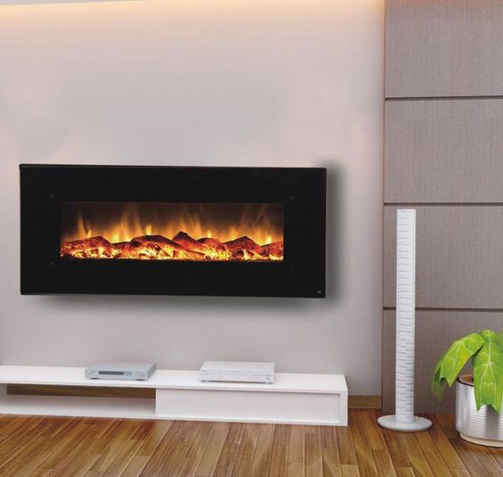 Electric Wall Mounted Fireplace And Bedroom Wall On Pinterest