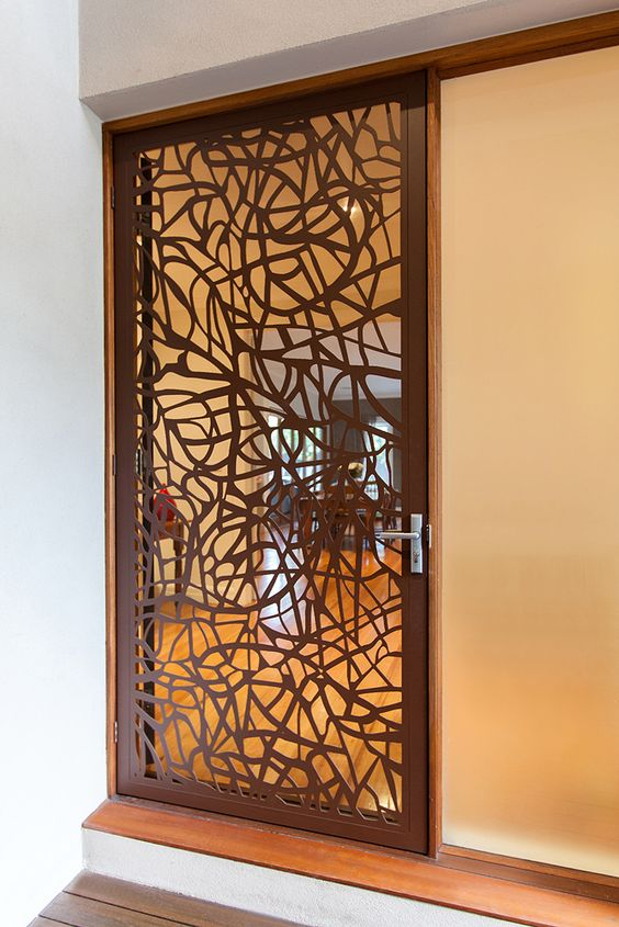 Laser cut architectural screen door that blends into the local street scape, or one that complements your existing taste and is different to the generic!