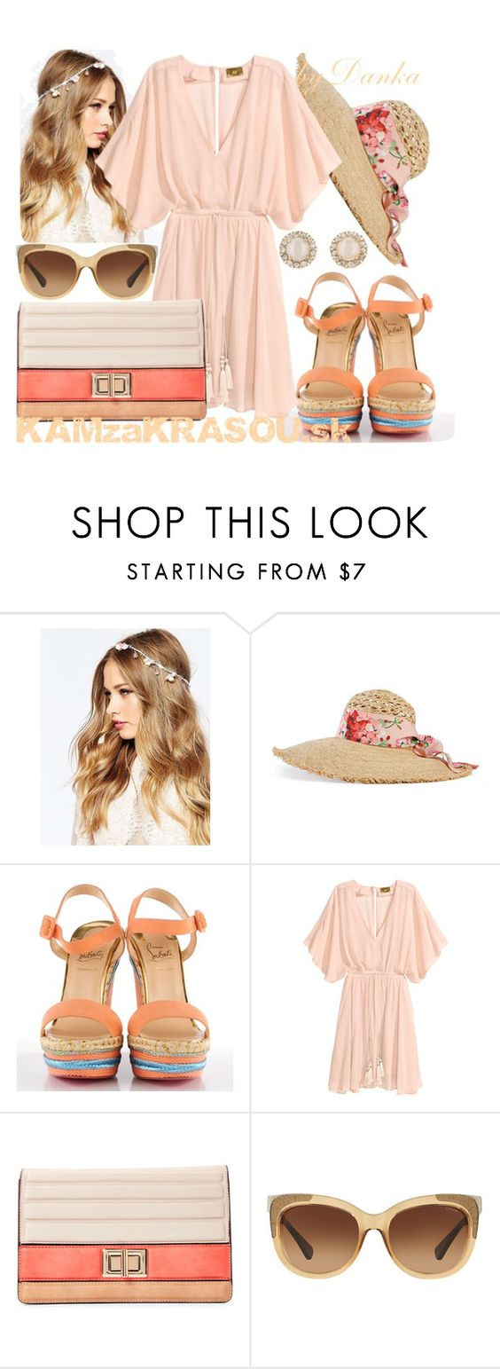 """Bohemian style"" by dana-sindleryova ❤ liked on Polyvore featuring ASOS, Gucci, Christian Louboutin, Melie Bianco, Coach and Kate Spade"